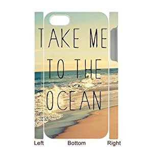 Iphone 5C 3D Custom Phone Back Case with ocean wave Image