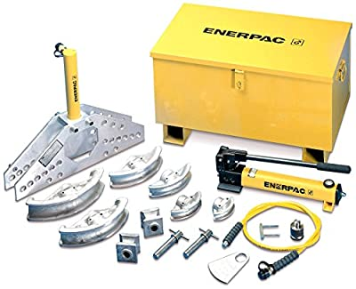 "Enerpac STB-101H Hydraulic Pipe Bender Set for 1/2"" to 2"" OD Pipe, Hydraulic Hand Pump"