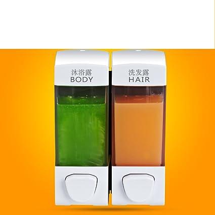 dispensador de jabón mural/Hotel champú ducha cajas para uso doméstico/la mano botellas