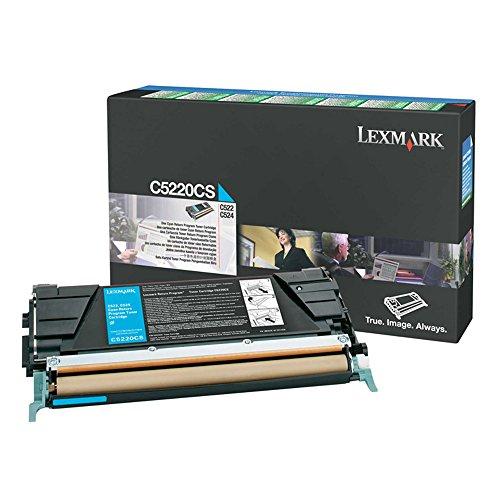 Lexmark C5220CS Cyan OEM Toner Standard Yield (3,000 Yield) - Lexmark C5220cs Cyan Toner
