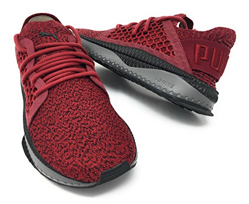 PUMA Mens Tsugi Netfit Sneaker Red Black cddGx