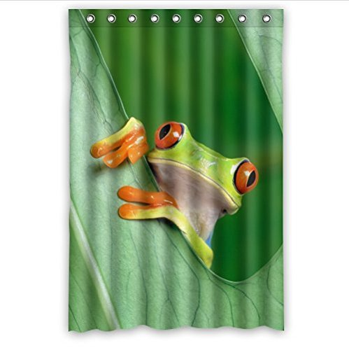 Funny Tree Frog Design Graphics And More Red Eyed Tree Frog Bathroom Decor  100% Polyester