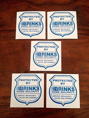 Five (5) Home Security Window / Door Decal Stickers