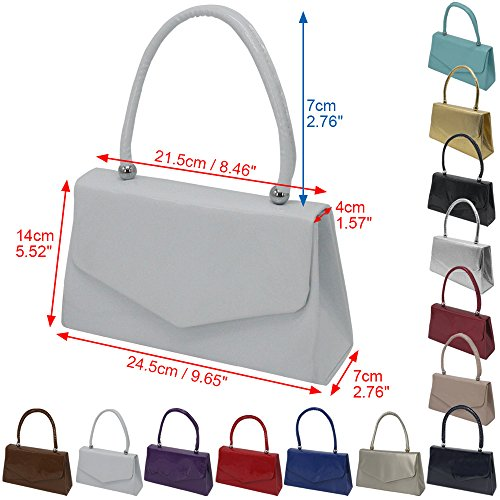 Envelope Ladies Clutch Handbag Cckuu Evening Desgin Classic Handle Party Purple Wedding White Purse t6RdCqwR