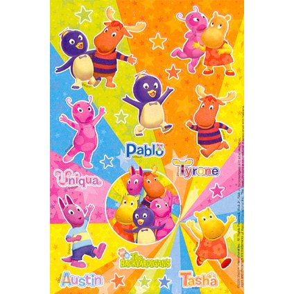 Backyardigans Party Stickers 2/Pack-2Pack