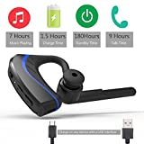 Bluetooth Headphone, Noise Cancelling In-ear Earbuds, Wireless Earpiece V4.1 with Mic for Business/Office/Driving with 18 Hours Playtime