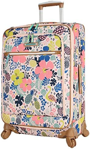 Lily Bloom Luggage 24 Expandable Design Pattern Suitcase With Spinner Wheels For Woman 24in, Trop Pineapple