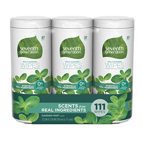 Cleaner Wipes (Seventh Generation Multi-Purpose Wipes, Garden Mint, 111 Count)