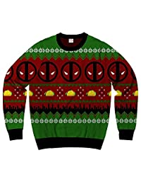 Men's Marvel Deadpool Navidad Ugly Sweater Christmas Sweatshirt