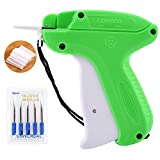 Tag Attaching Tagging Gun Clothing Price Lable Brand Dress Socks Hats Fashion Trade Shops Home Tag Gun + 5 Needles + 1000pcs Standard Attachments Fasteners Barbs (Green)