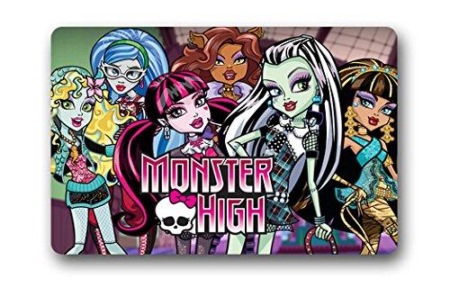 Monster High Cartoon Movie Doormat Home Decoration Stylish Classic Modern Door Bedroom Bathroom Mats