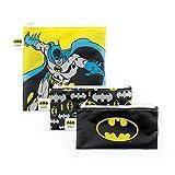 Bumkins 3 Piece DC Comics Reusable Snack Bag, Batman