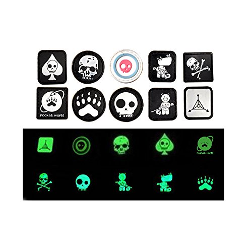 r 3D PVC Rubber Military Cartoon Kids Morale Patches- Hook and Loop Backed by Neo Tactical Gear (Include 10 pcs Army Green tad Mini Luminous Patch Velcro Badges) (Badge Patch Mini)