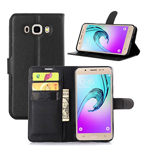 Galaxy J7(2016) J710 Case,Qidreamcase [KickStand][Flip][Card Slot][Slim Fit] - PU Leather Wallet Case for Samsung Galaxy J7(2016) J710 - That Online Stores Debit Take