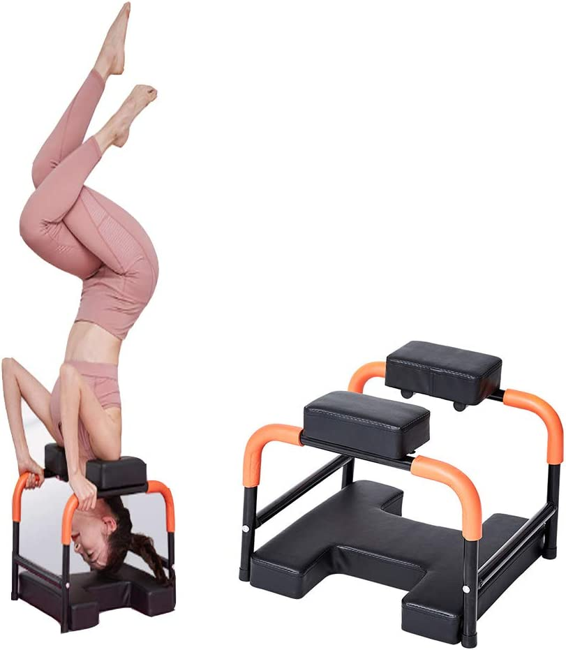 Presidente Invertida Yoga Auxiliar Silla Pequeño Invertido Máquina De Zapatos Cambio De Heces Invertido Heces De Múltiples Funciones De Tracción Y Estiramiento De Yoga En Casa Aparatos De Ejercicios