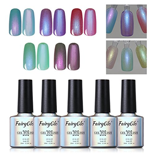 5PCS Pearl Nail Polish Gel Manicure Salon Decor Nail Art Ele