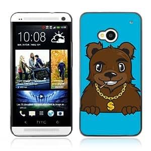 YOYOSHOP [Gangsta Pimp Bear] HTC One M7 Case