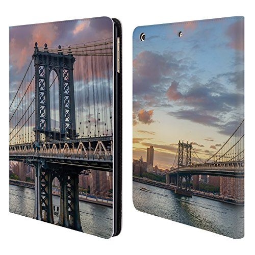 Head Case Designs Manhattan Bridge Skyline Citta Cover a portafoglio in pelle per Apple iPad Air
