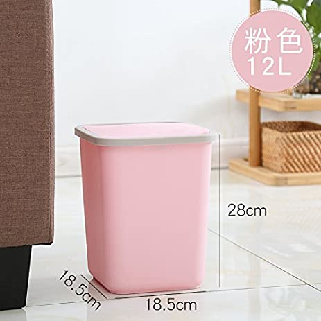 Amazon.com: Dustbins Xiuxiutian Plastic Covered Office bedroom ...