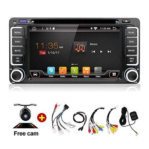 Navigation Seller - 1G RAM Quad Core 4 Core Android 6.0 Car DVD for Toyota CELICA for Toyota MR2 for Toyota 4RUNNER Car Radio Stereo