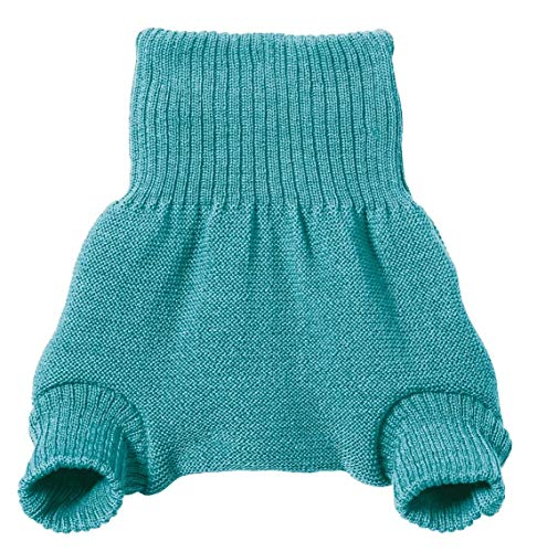 DISANA 100% Organic Wool Diapers Cover/Soaker/Over Pants Made in Germany (Lagoon, 3-6 Months (62/68))