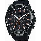 Lorus Mens Black Chronograph RT327EX9