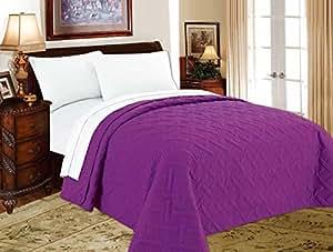 decarl bed quilts solid color lightweight geometric soft comforter bedding summer. Black Bedroom Furniture Sets. Home Design Ideas