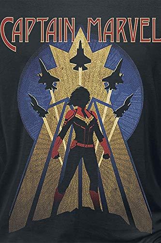 Captain Marvel Air Force T-Shirt Manches Longues Noir