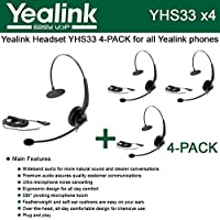 Yealink YHS33 Wideband Headset for Yealink IP Phones, plug and play