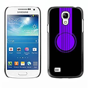 Impact Case Cover with Art Pattern Designs FOR Samsung Galaxy S4 Mini i9190 Purple Headphones Betty shop