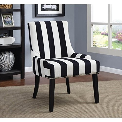 Coaster Home Furnishings Accent Chair, Black/Navy and White