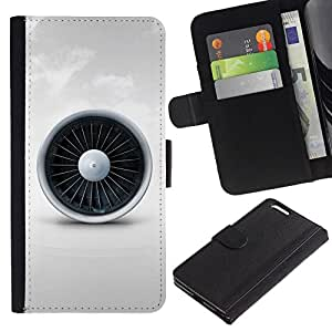 All Phone Most Case / Oferta Especial Cáscara Funda de cuero Monedero Cubierta de proteccion Caso / Wallet Case for Apple Iphone 6 PLUS 5.5 // Jet Engine