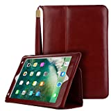 iPad Mini 4 Case, Vacio PU Leather Case Tablet Smart Stand Case Slim Fit Cover with Card Slot and Hand Strap for iPad MINI 4 (Red)