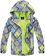 M2C Boys & Girls Hooded Composite Mesh Lined Softshell Jac