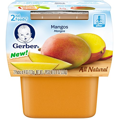 Gerber Purees 2nd Foods Pouches, Mango, 8 Count