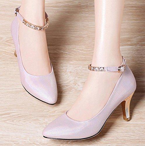 los zapatos del elevador Sra de primavera con los zapatos de tacón alto dama señaló los zapatos de la boca baja con la Sra zapatos , US7.5 / EU38 / UK5.5 / CN38