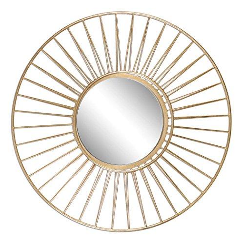 Round Mirror the Caspian Collection Gold Round (Caspian Mirror)