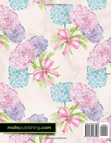 4 Column Ledger: Accounting Bookkeeping Notebook, Accounting Record Keeping Books, Ledger Paper Pad, Hydrangea Flower Cover, 8.5″ x 11″, 100 pages (Volume 84)