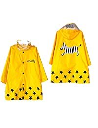 Kid Rain Coat, Cartoon Waterproof Children's Raincoat Lightweight for Ages 3-12 Years Old Girls and Boys 4 Size