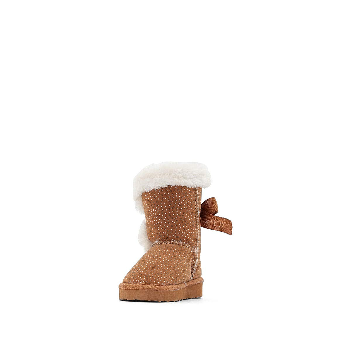 Sizes 19-25 Brown Size 21 La Redoute Collections Big Girls Sparkly Fur-Lined Boots