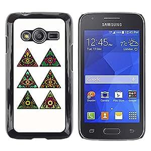 SoulCase / Samsung Galaxy Ace 4 G313 SM-G313F / Psychedelic Huichol All Seeing Eye Totem Pattern / Delgado Negro Plástico caso cubierta Shell Armor Funda Case Cover