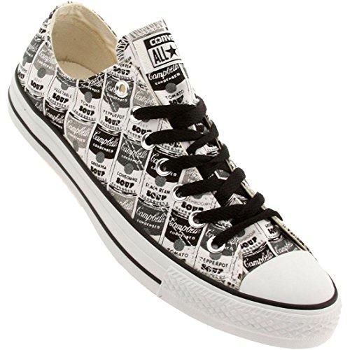Converse X Andy Warhol Mannen Chuck Taylor All Star Low Ox (zwart / Wit / Metselaar)