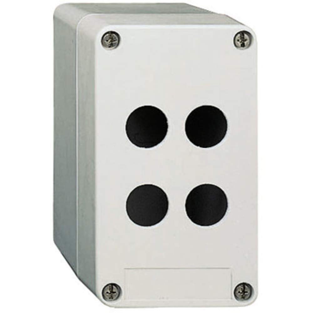 Enclosure; Pushbutton; 1 Hole; 22mm; Polyester; N/A; IP69K; Gray; Harmony XAP Series