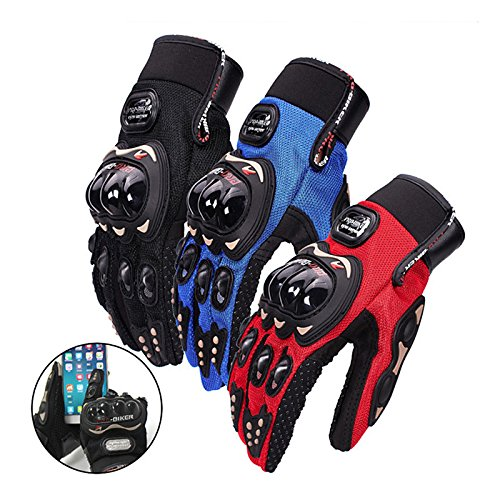 Zeiger Motorcycle gloves Full finger for Road Racing Bike Summer Spring Powersports Racing MTB BMX ATV Off-Road Sports Gloves -Black