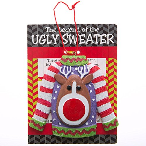 The Legend of the Ugly Sweater Ornaments -12 count