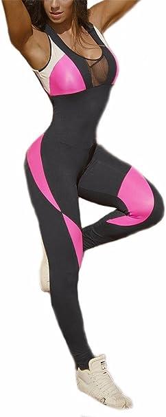 Amazon.com: CFR - Body de yoga ajustado sin mangas, espalda ...