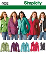 Simplicity Sewing Pattern 4032 Misses Jackets and Vests, K5 (8-10-12-14-16)