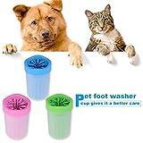 AnniKit Portable Dog Paw Cleaner Pet Cleaning Pet Washer Blue Medium