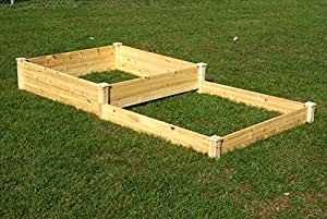 Riverstone Industries Eden RGB-48511 4 Ft. x 8 Ft. x 11 In. Quick Assembly Raised Garden Bed