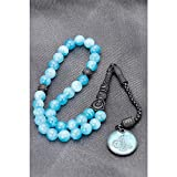 Blue Color Natural Stone Ottoman IR Should not Tuğra Rosary